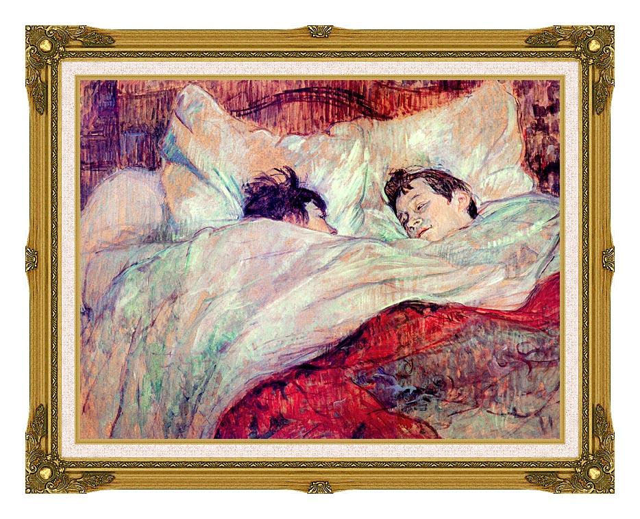 Henri de Toulouse Lautrec The Bed Le Lit with Museum Ornate Frame w/Liner