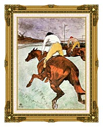 Henri De Toulouse Lautrec The Jockey canvas with museum ornate gold frame