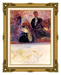 Henri De Toulouse Lautrec Theater Box With The Gilded Mask canvas with museum ornate gold frame