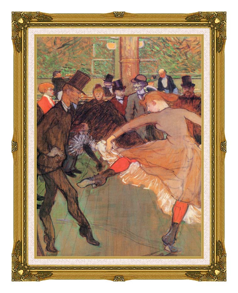 Henri de Toulouse Lautrec Training of New Girls by Valentin the Boneless with Museum Ornate Frame w/Liner