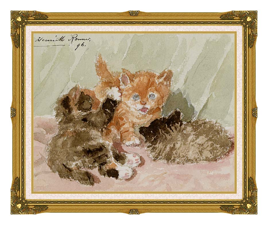 Henriette Ronner Knip The Jester with Museum Ornate Frame w/Liner