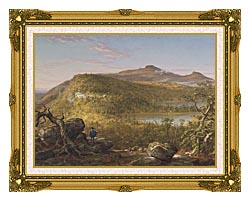 Thomas Cole A View Of The Two Lakes And Mountain House Catskill Mountains Morning canvas with museum ornate gold frame
