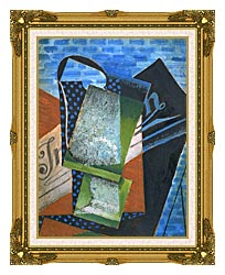 Juan Gris Abstraction canvas with museum ornate gold frame