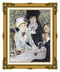 Pierre Auguste Renoir After The Luncheon canvas with museum ornate gold frame