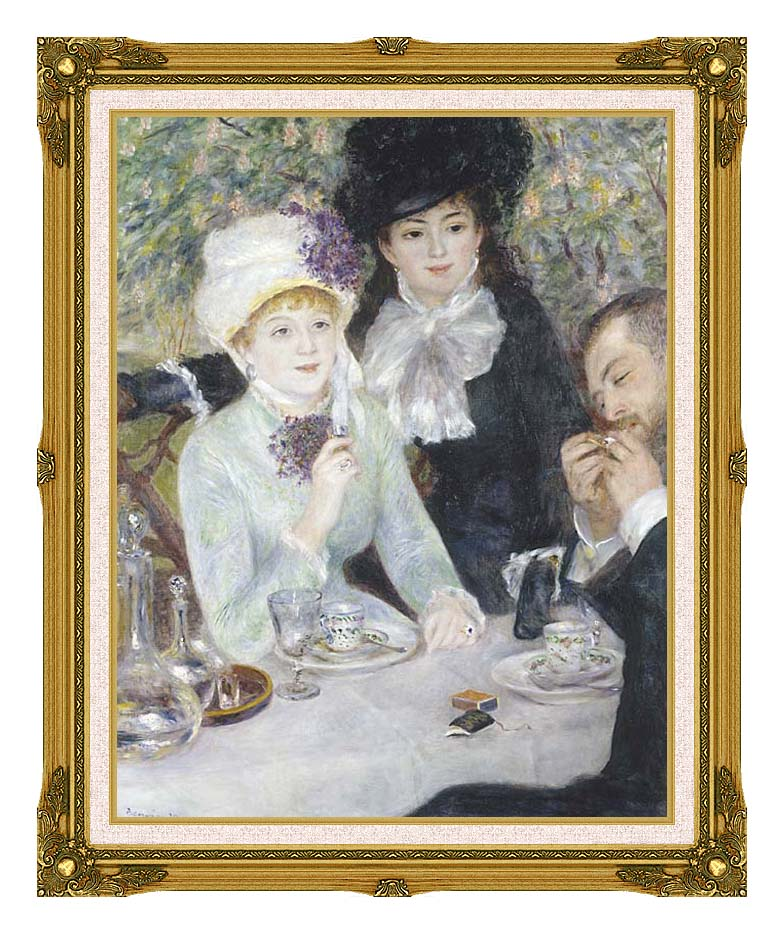 Pierre Auguste Renoir After the Luncheon with Museum Ornate Frame w/Liner