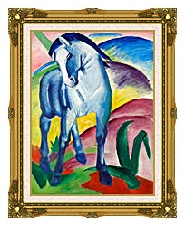 Franz Marc Blue Horse 1 canvas with museum ornate gold frame