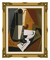 Juan Gris Coffee Pot canvas with museum ornate gold frame