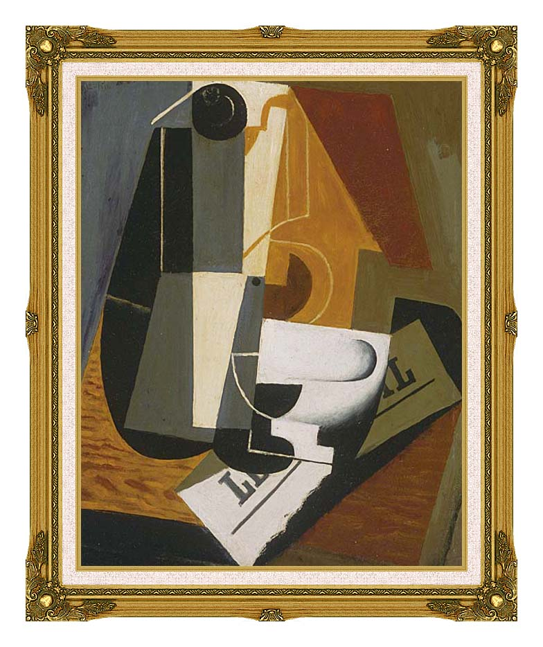 Juan Gris Coffee Pot with Museum Ornate Frame w/Liner