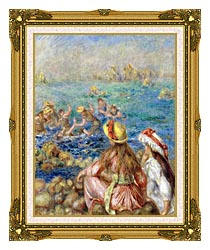 Pierre Auguste Renoir Baigneuses canvas with museum ornate gold frame