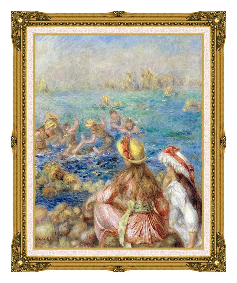 Pierre Auguste Renoir Baigneuses with Museum Ornate Frame w/Liner