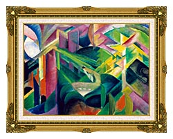 Franz Marc Deer In A Monastery Garden canvas with museum ornate gold frame