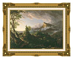 Thomas Cole The Course Of Empire The Savage State canvas with museum ornate gold frame