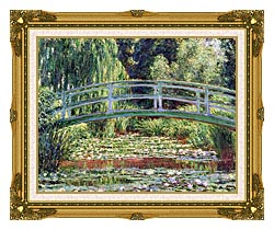 Claude Monet The Japanese Footbridge And The Water Lily Pool Giverny canvas with museum ornate gold frame
