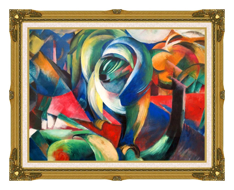 Franz Marc The Mandrill with Museum Ornate Frame w/Liner