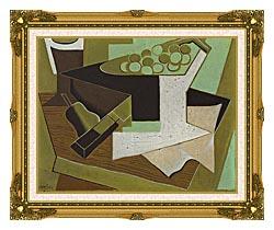 Juan Gris Grappe De Raisin Et Poire canvas with museum ornate gold frame
