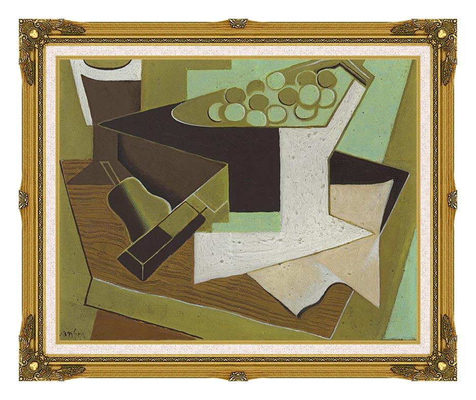 Juan Gris Grappe de raisin et poire with Museum Ornate Frame w/Liner