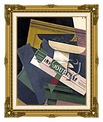 Juan Gris Grapes canvas with museum ornate gold frame