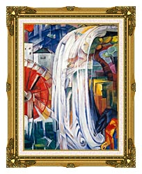 Franz Marc The Bewitched Mill canvas with museum ornate gold frame
