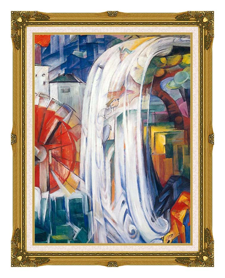 Franz Marc The Bewitched Mill with Museum Ornate Frame w/Liner