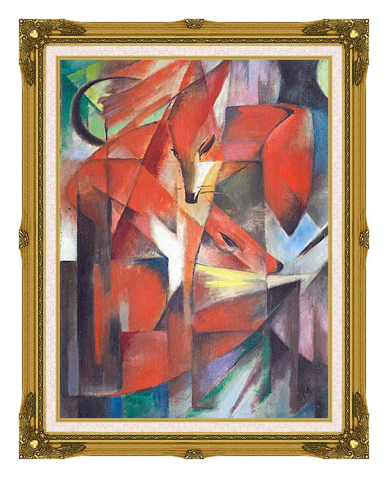 Franz Marc The Foxes with Museum Ornate Frame w/Liner