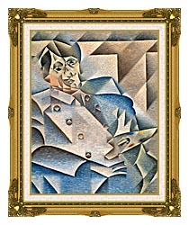 Juan Gris Portrait Of Pablo Picasso canvas with museum ornate gold frame