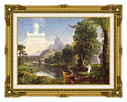 Thomas Cole Voyage Of Life Youth 1842 canvas with museum ornate gold frame