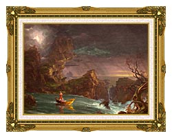 Thomas Cole Voyage Of Life Manhood 1842 canvas with museum ornate gold frame