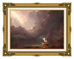 Thomas Cole Voyage Of Life Old Age 1842 canvas with museum ornate gold frame