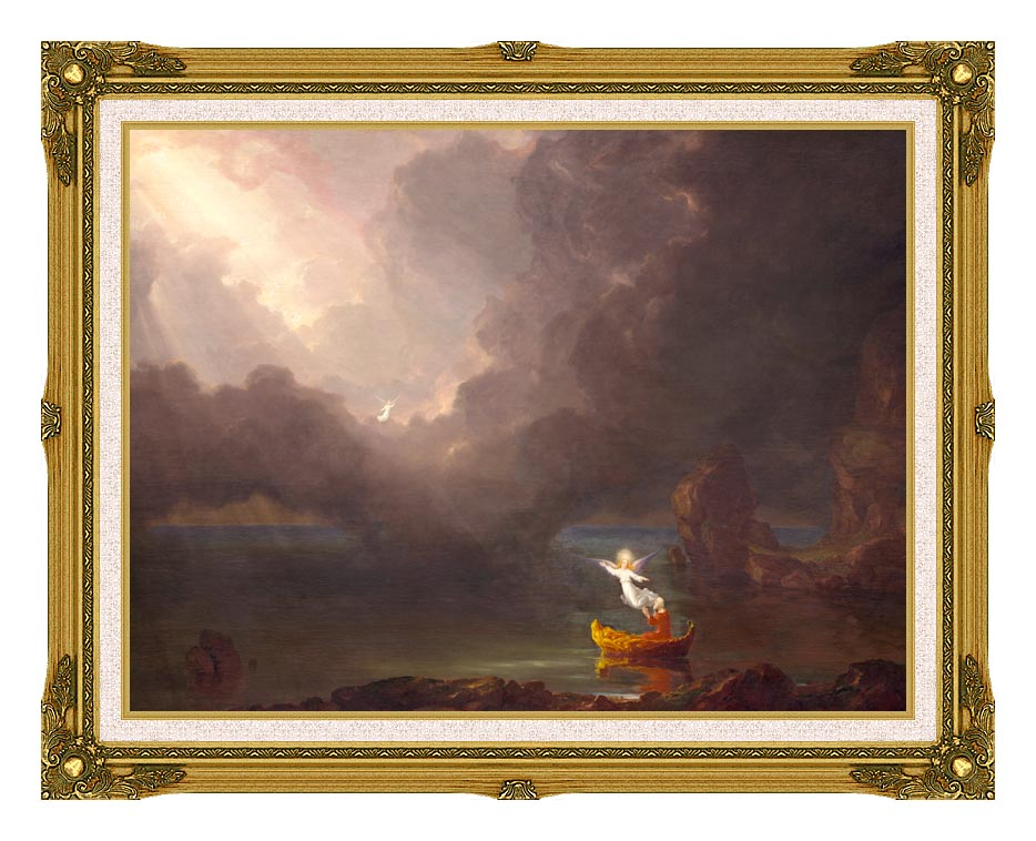 Thomas Cole Voyage of Life: Old Age 1842 with Museum Ornate Frame w/Liner