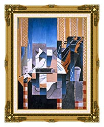 Juan Gris Violin And Guitar canvas with museum ornate gold frame