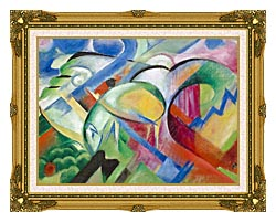 Franz Marc The Sheep canvas with museum ornate gold frame