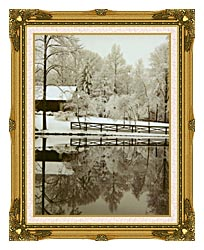 Ray Porter Images canvas with museum ornate gold frame