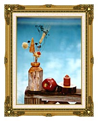 Ray Porter Autumn Still Life canvas with museum ornate gold frame