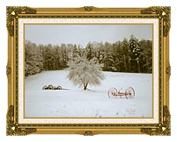 Ray Porter Crystal Tree canvas with museum ornate gold frame