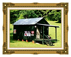 Ray Porter Country Store canvas with museum ornate gold frame