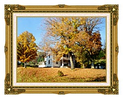 Ray Porter Country House canvas with museum ornate gold frame