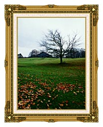 Ray Porter Winters Nye canvas with museum ornate gold frame
