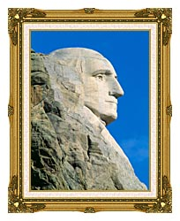 Visions of America George Washington On Mount Rushmore canvas with museum ornate gold frame
