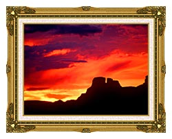 Visions of America Indian Ruins Chaco Canyon At Sunset New Mexico canvas with museum ornate gold frame