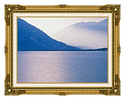 Visions of America Aspen And Rocky Mountains From Lake Colorado canvas with museum ornate gold frame