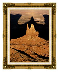Visions of America The Navajo Tribal Park At Sunset canvas with museum ornate gold frame
