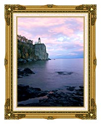Visions of America Split Rock Lighthouse On Lake Superior canvas with museum ornate gold frame