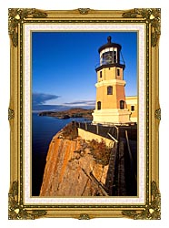 Visions of America Split Rock Lighthouse State Park Minnesota canvas with museum ornate gold frame